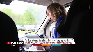 Teacher not getting paid at academy in Southfield - Video