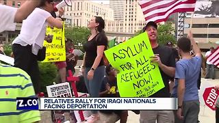Relatives rally for Iraqi nationals facing deportation - Video