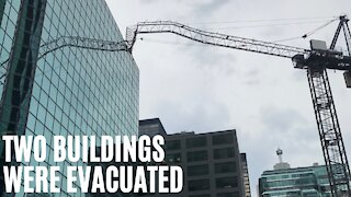 A Collapsed Crane Just Smashed Into An Office Building In Downtown Toronto
