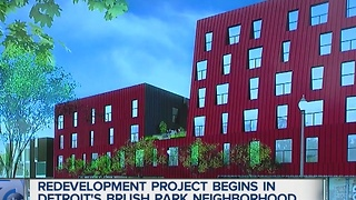 New development in Detroit's Brush Park - Video