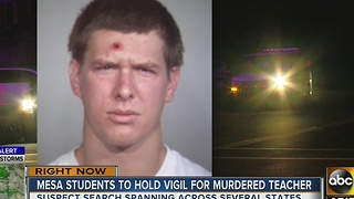 Manhunt continues for suspect in Mesa teacher's death - Video