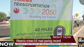 City of Phoenix celebrates road-paving record - Video