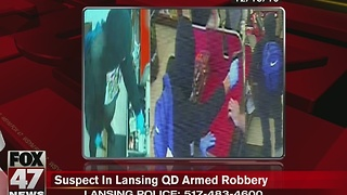 Suspect in Lansing QD armed robbery - Video