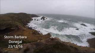 Storm Barbara Pounds Ireland's Northwestern Coast - Video