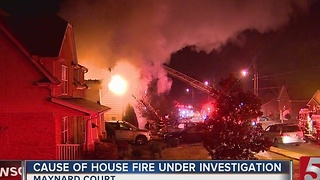 Maynard Court Home Lost In Overnight Fire - Video