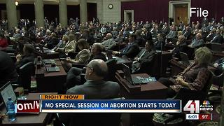 MO lawmakers convene for session on abortion - Video
