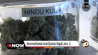 Recreational marijuana becomes legal Jan. 1