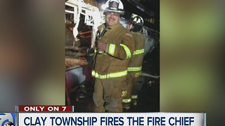 Clay Township fires the fire chief - Video
