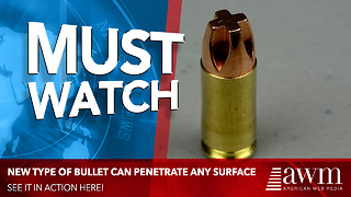 Experts Are Saying New Bullet Is The Most Effective They've Ever Seen. Watch It In Action Here - Video