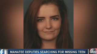 Manatee County deputies looking for endangered runaway teen - Video