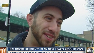 Baltimore residents talk about their New Year's resolutions