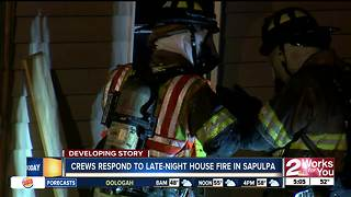 Fire crews respond to house fire in Sapulpa - Video