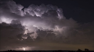 Stunning lightning storm time lapse in HD - Video