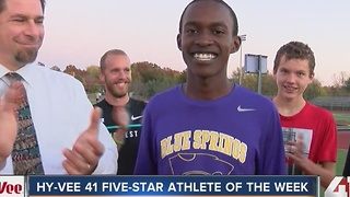 Blue Springs' Victor Mugeche named Athlete of the Week - Video