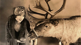1920's News Clip: Santa Claus Trains Reindeer - Video