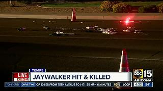 Pedestrian killed after being struck by car in Tempe