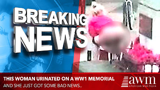 Woman Is In Huge Trouble After Getting Caught Urinating On A WW1 Memorial - Video