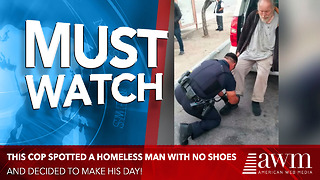 Cop Spots Something Peculiar About Homeless Man, Takes Immediate Action - Video
