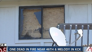 One dead in fire near 46th and Melody in KCK - Video