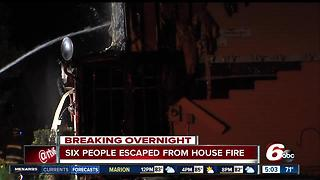 Six people forced out of home in Avon after a fire - Video