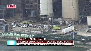 Hazmat situation at TECO Big Bend Plant - Video