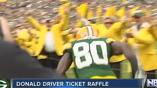 Donald Driver raffling off NFC Championship tickets - Video