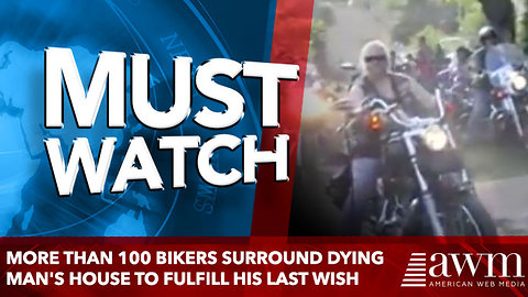 More Than 100 Bikers Surround Dying Man's House to Fulfill His Last Wish