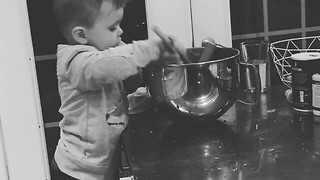 Toddler Eats More Than He Helps - Video