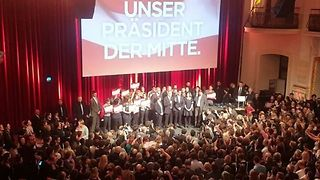 Supporters Celebrate in Vienna With Newly Elected President - Video
