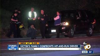 Victim's family confronts hit-and-run driver - Video