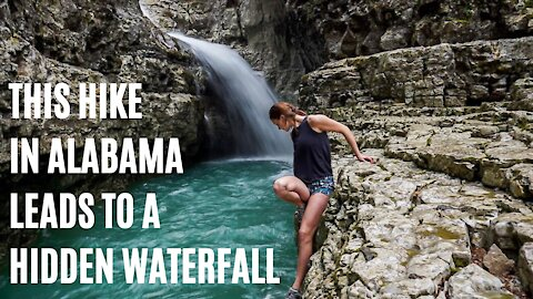 This Alabama Hike Leads To An Enchanting Hidden Waterfall & Turquoise Pool