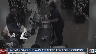 Woman attacked for using coupons at store - Video