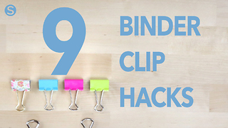 9 easy and useful binder clip hacks - Video