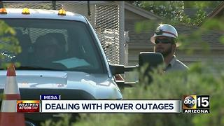 Homeowners left without electricity during peak of Arizona heat - Video