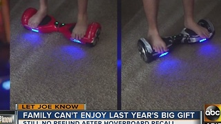 Let Joe Know: Teens waiting for refund after powerboards recalled - Video