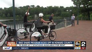 Howard County Bike Share program kicks off - Video