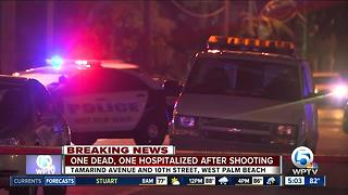 1 dead, 1 hospitalized in West Palm Beach shooting - Video