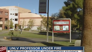 Students and others upset by UNLV teacher's comments - Video