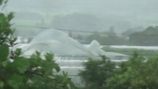 Heavy Wind From Typhoon Nanmadol Causes Damage in Japan