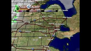 Spotty showers and storms this evening - Video