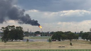 Large Flames, Smoke Seen Amid 'Controlled Burn-Off' at Sydney Plant - Video