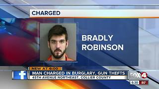 Collier County man charged with stealing guns from roommate - Video