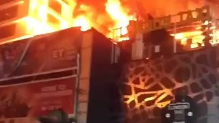 Fire Rages at Kamala Mills Complex in Mumbai - Video