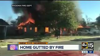Good Samaritan jumps into action after house fire sparks near 44th Street and Osborn - Video