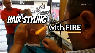 Styling Hair with FIRE - Video