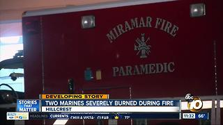 2 Marines working on fighter jet at MCAS Miramar burned in fire - Video