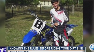 Knowing the rules before riding your dirt bike - Video