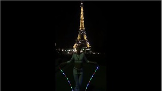 World's best jump roper performs in front of Eiffel Tower - Video