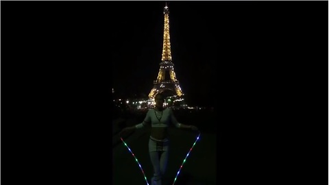 World's best jump roper performs in front of Eiffel Tower
