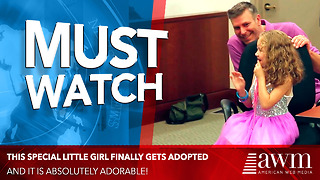 Special Little Girl Is Finally Getting Adopted. When She Turns Around I Absolutely Lose It - Video